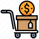 buy, cart, dollar, money, shopping icon