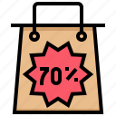 bag, clearance, discount, sale, shopping icon