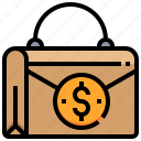 currency, dollar, money, wallet icon
