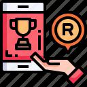 smartphone, gift, reward, hand, present
