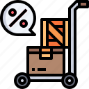 trolley, shipping, cart, packages, boxes