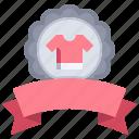 shopping, tshirt, best, reward, emblem, seller icon