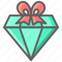 black friday, cyber, diamond, gift, jewelry, monday icon
