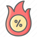 black friday, cyber, deal, hot, monday, promo icon