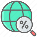 cyber, discount, global, monday, searching icon