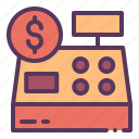 black friday, cashier, clerk, payment icon