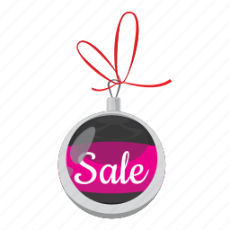 ball, cartoon, christmas, offer, price, promotion, sale icon