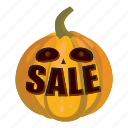 cartoon, friday, interest, money, pumpkin, sale, word icon