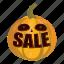 cartoon, friday, interest, money, pumpkin, sale, word icon