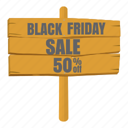 cartoon, discount, friday, offer, poster, sale, wooden icon