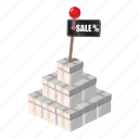 box, carry, cartoon, interest, money, sale, shopping icon