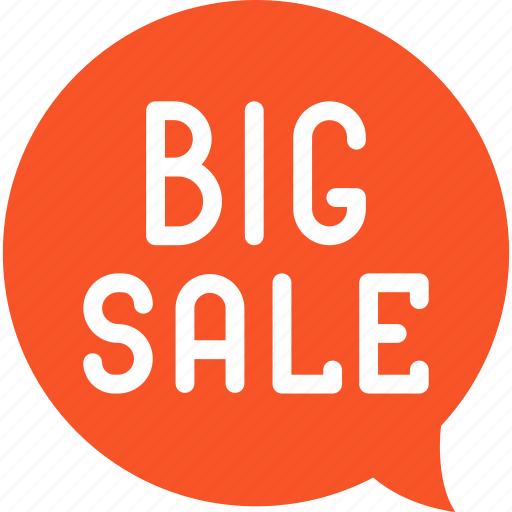 big, blackfriday, discount, sale icon