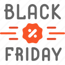blackfriday, discount icon