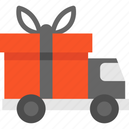 blackfriday, delivery, gift, truck icon