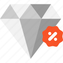 blackfriday, diamond, discount, jewelry icon