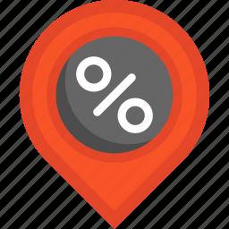 blackfriday, pin, placeholder icon