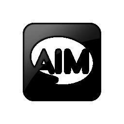 099277, aim, logo, square icon