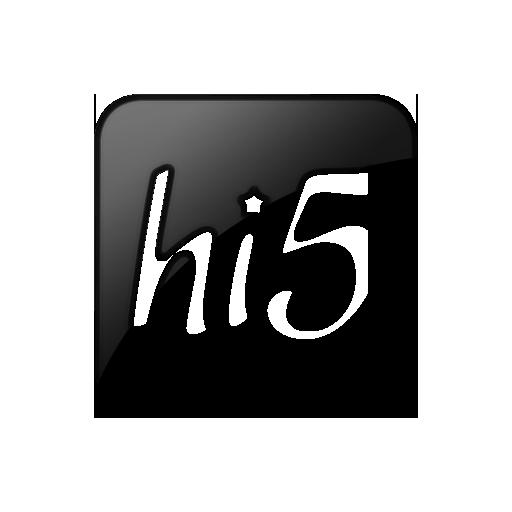 099319, hi, logo, square icon