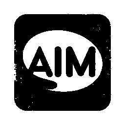 097642, aim, logo, square icon