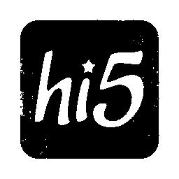 097684, hi, logo, square icon