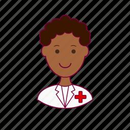 black man, hospital, job, nurse, profession, professional icon