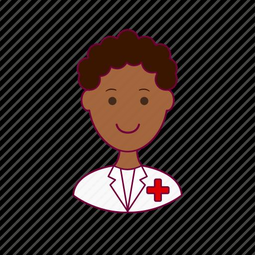 Black man, hospital, job, nurse, profession, professional icon - Download on Iconfinder