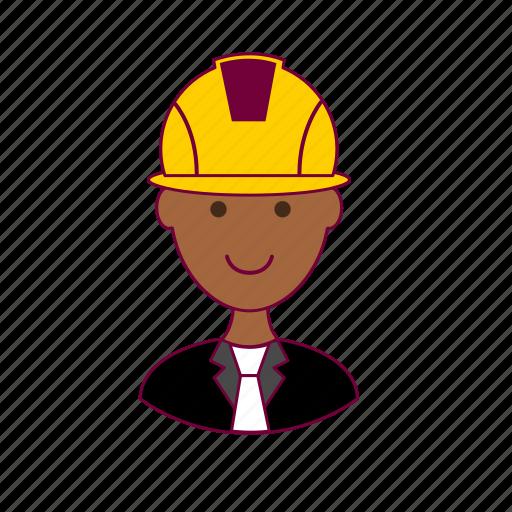 .svg, black man, civil engineer, engenheiro, engineer, job, profession, professional icon