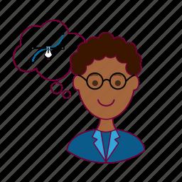 black man, designer, draw, job, profession, professional, vector icon