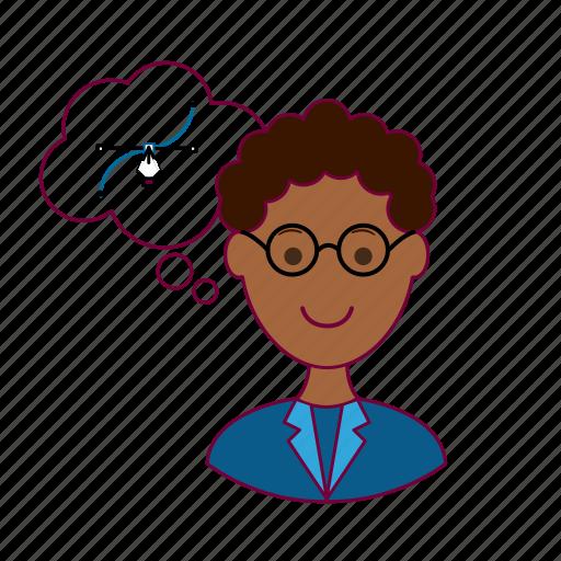 Black man, designer, draw, job, profession, professional, vector icon - Download on Iconfinder