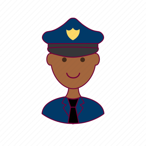 .svg, black man, job, police, police officer, policial, profession, professional icon