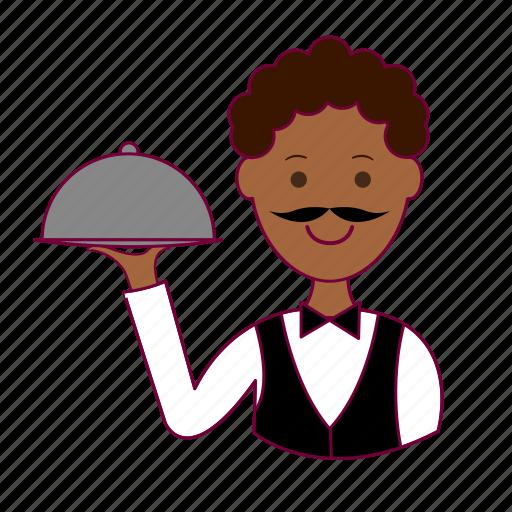 Bartender, black man, garçom, job, profession, professional, waiter icon - Download on Iconfinder