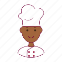 black man, chef, food, job, profession, professional icon