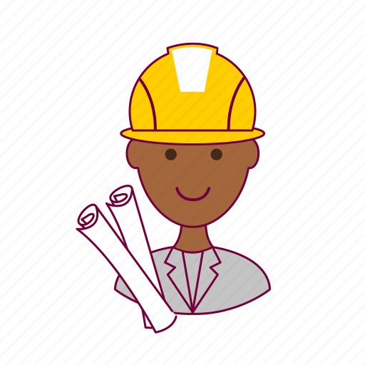 .svg, architect, black man, job, paper, profession, professional, project icon