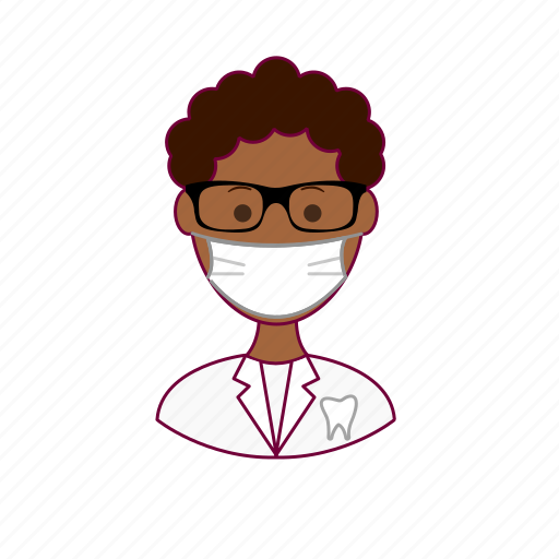 .svg, black man, dentist, dentista, job, profession, professional icon