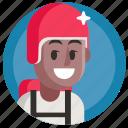 avatar, boy, man, parachuting, sport icon