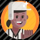 avatar, baseball, girl, sport, woman icon