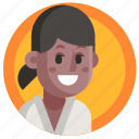 avatar, girl, hand-to-hand, judo, sport, woman icon