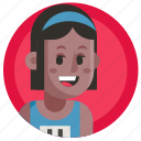 avatar, girl, run, running, sport, woman