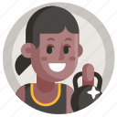 avatar, girl, powerlifting, sport, weightlifter, woman icon