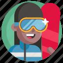 avatar, girl, snowboarding, sport, woman