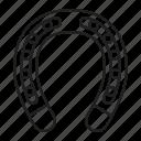 blacksmith, forging, horseshoe icon