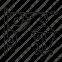 antique, blacksmith, light, metal, street icon