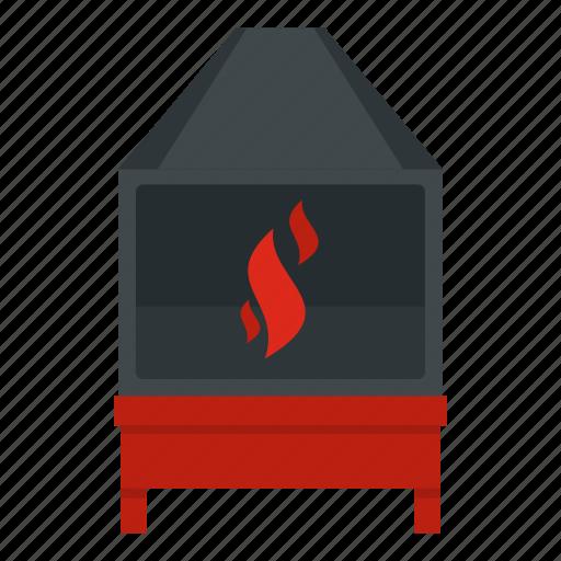 blacksmith, burn, coal, flame, furnace, hot, oven icon
