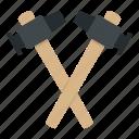 blacksmith, hammer, iron, metal, steel, tool, work icon