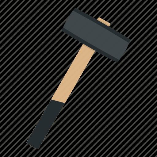 blacksmith, hammer, metal, sledgehammer, steel, tool, work icon