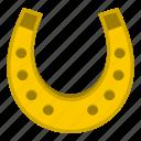 blacksmith, equipment, horseshoe, metal, old, retro, steel icon
