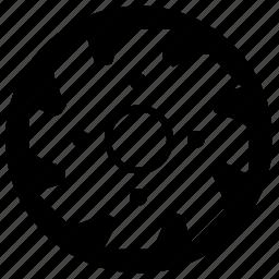 cut, cutter, form, metal, saw icon