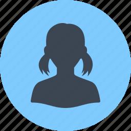 avatar, female, girl, profile, user, woman icon