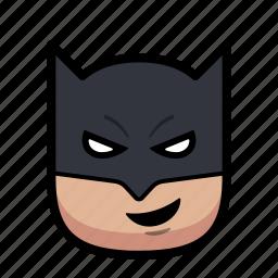 batman, cartoon, hero, superhero icon