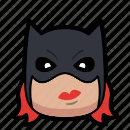 cartoon, cat, hero, superhero, woman icon